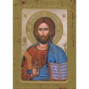 Pantocrator Wood Icon Plaque