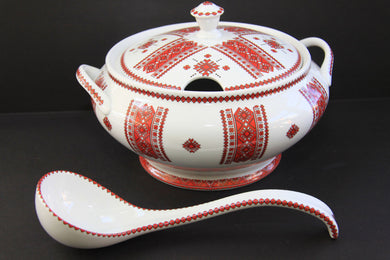 large soup tureen with spoon