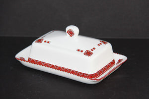 rectangular classic covered butter dish