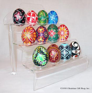 12 Egg Lucite Step Stand
