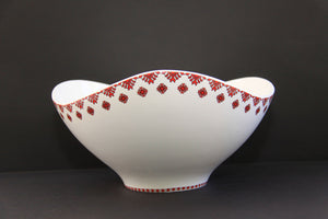 large triangular wave bowl