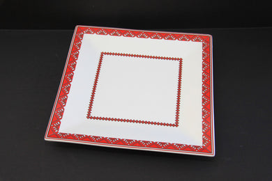square serving plate 10