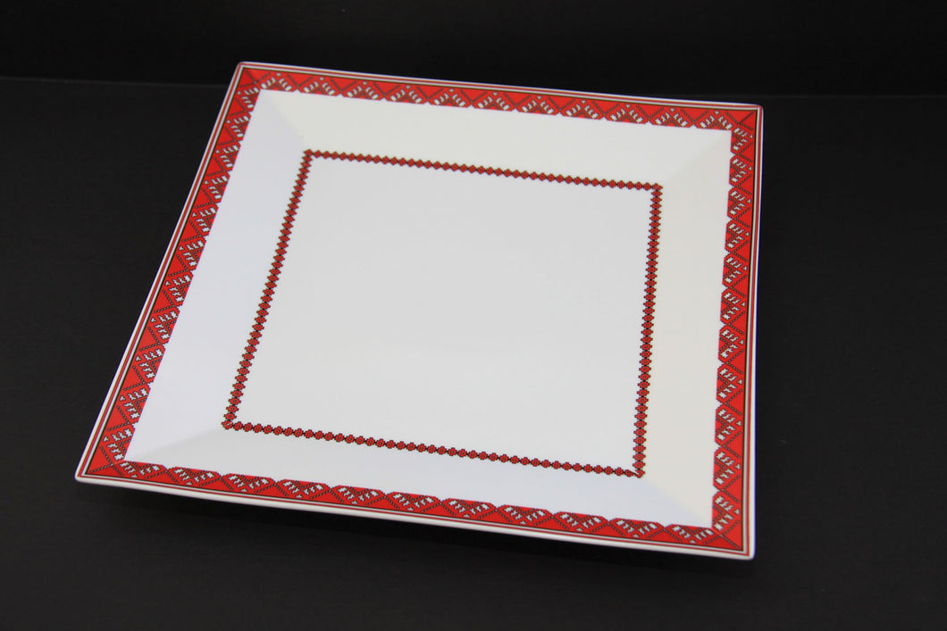 elegant square serving platter 12
