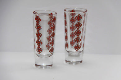 tall tapered 2oz shot glass