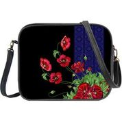 Load image into Gallery viewer, Ukrainian poppy flower print print cross body bag/toiletry bag