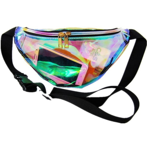 women's holographic fanny pack