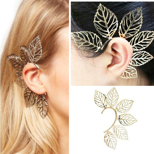 Garden Fairy Leaf Cuff Earrings