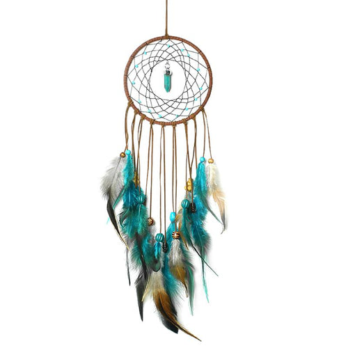 Sacred Magic Handmade Turquoise Dreamcatcher