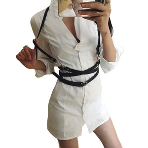 Bound Bliss - Women's Leather Body Harness