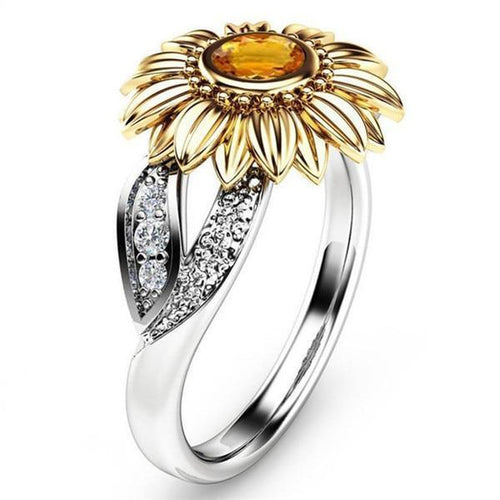 Amari Silver Sunflower Ring