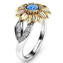 Load image into Gallery viewer, Amari Silver Sunflower Ring