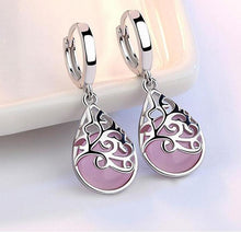 Load image into Gallery viewer, Opal Moon Sterling Silver Pink Opal Earrings