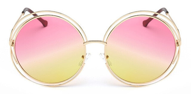 Daria Round Frame Oversized Women's Sunglasses