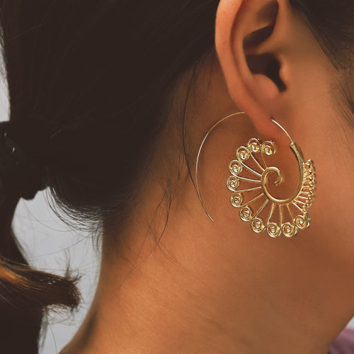 Pretty Hypnotic Hoop Earrings