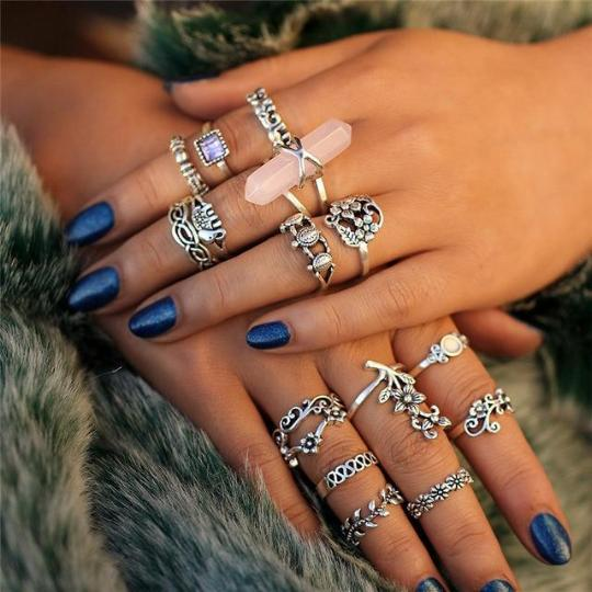 bohemian knuckle rings