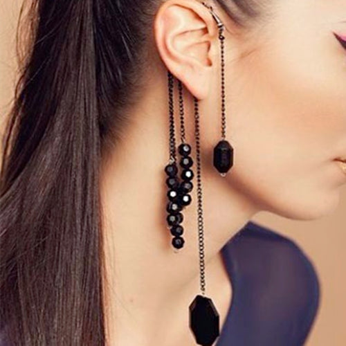 hanging ear cuff chain