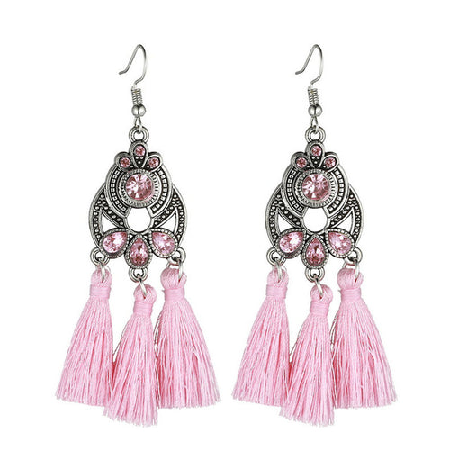 Blush Reign Bohemian Tassel Earrings