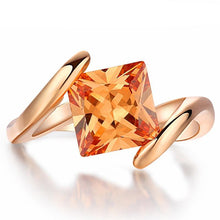 Load image into Gallery viewer, Lady Marmalade Rose Gold Princess Cut Women's Ring