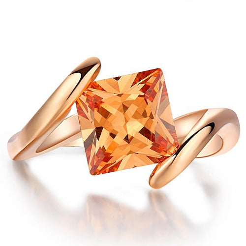Lady Marmalade Rose Gold Princess Cut Women's Ring