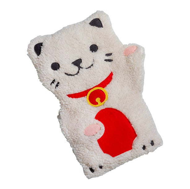 Bitten Lucky cat poes Pocket Size Handen Warmer