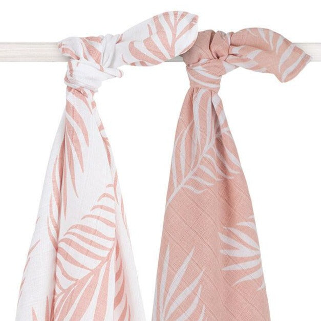 Jollein Hydrofiel multidoek large 115x115cm Nature pale pink (2pack)