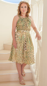Leopard Dress Couture Chrystal Sloane Designs Fashion Auckland