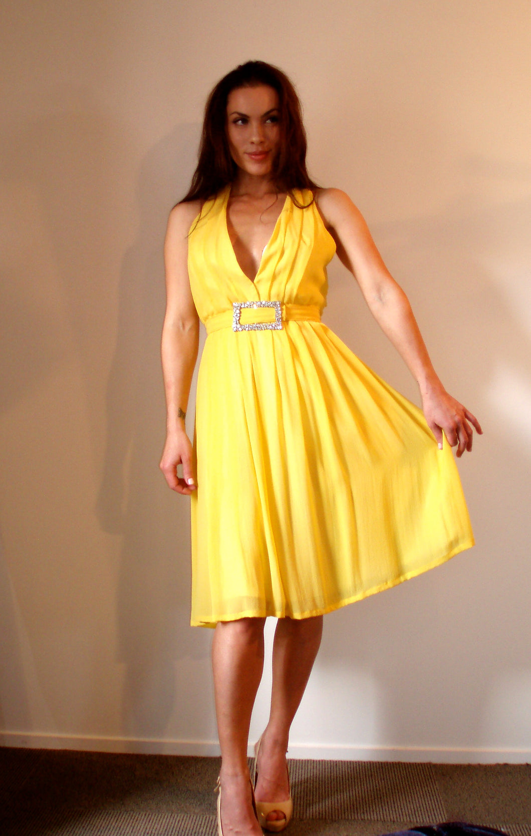 Yellow Cocktail Dress Fashion Design & Tailor Auckland