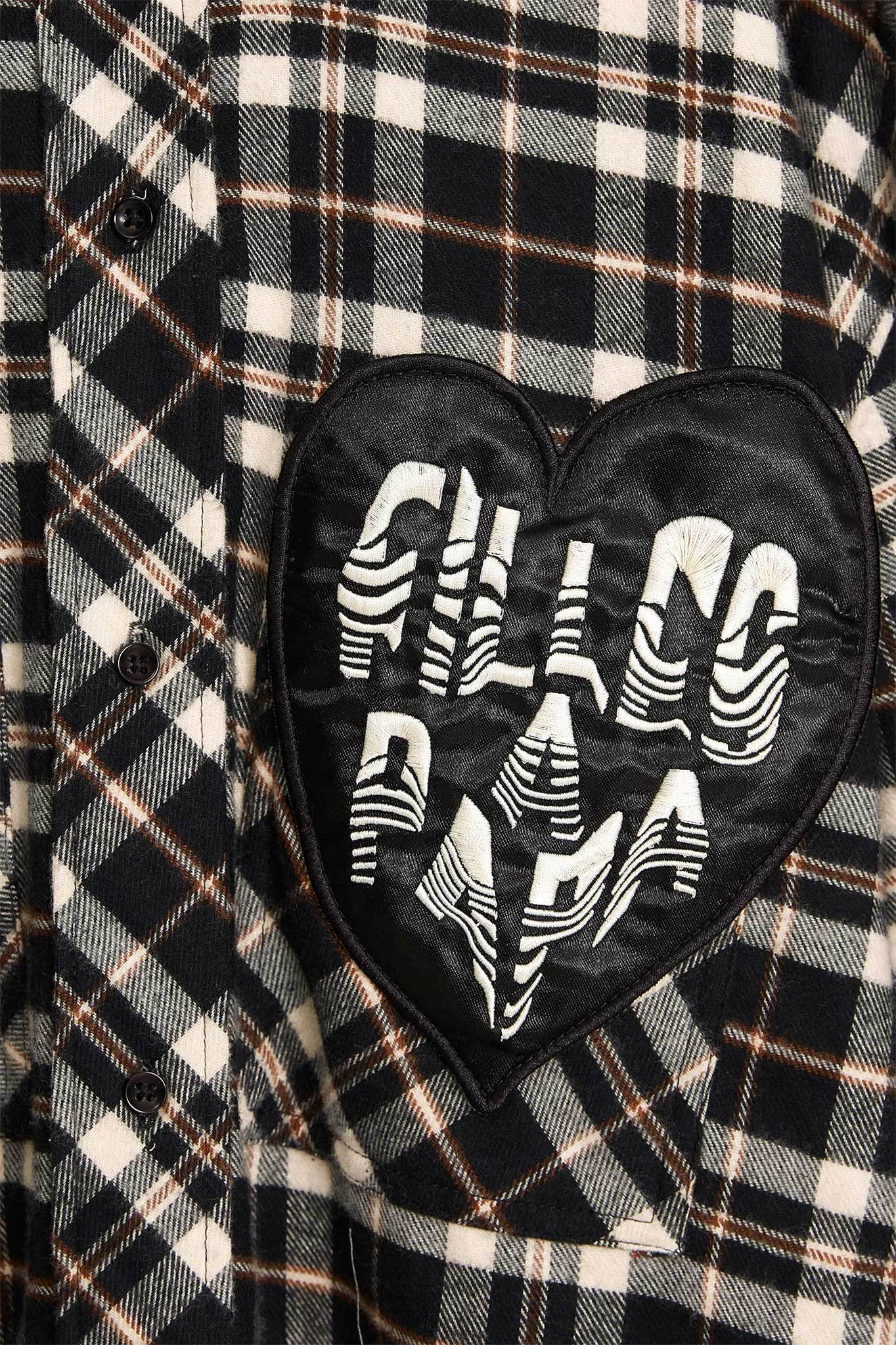 Рубашка BRIAN HEART CHECK BLACK