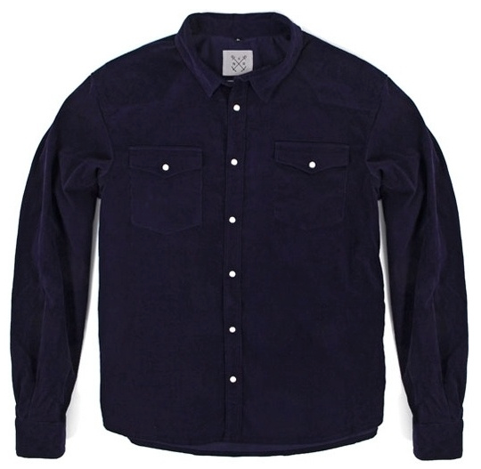 NAVY RETRO SHIRT