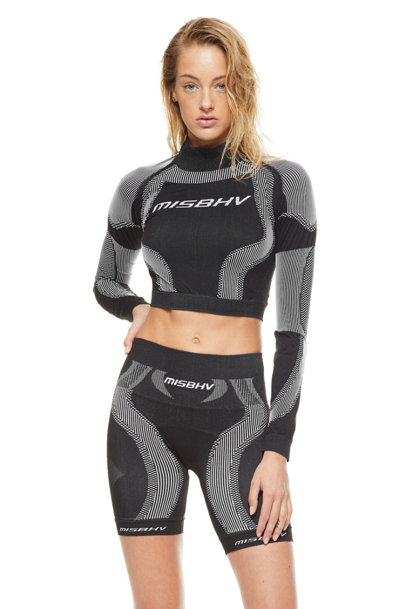 Укороченный топ MISBHV SPORT ACTIVE WEAR LS BLACK
