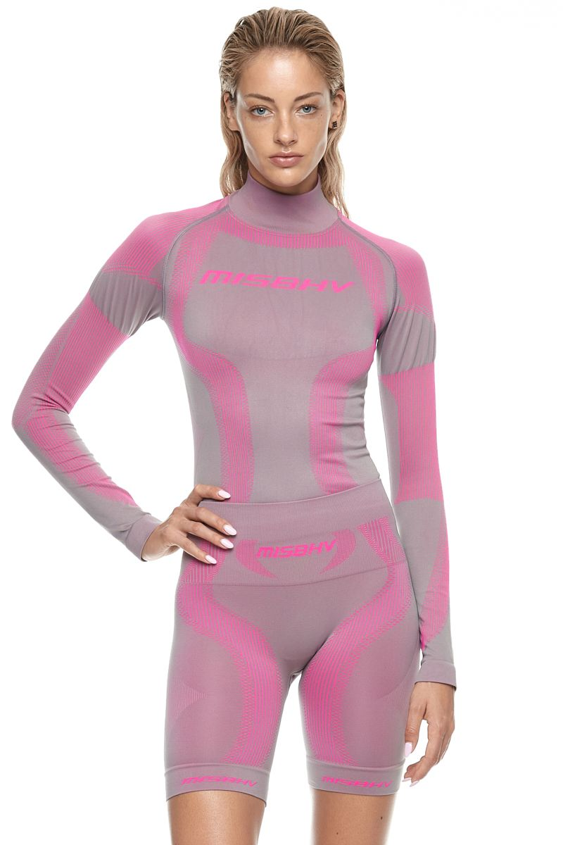 Лонгслив SPORT ACTIVE WEAR GRAY/PINK
