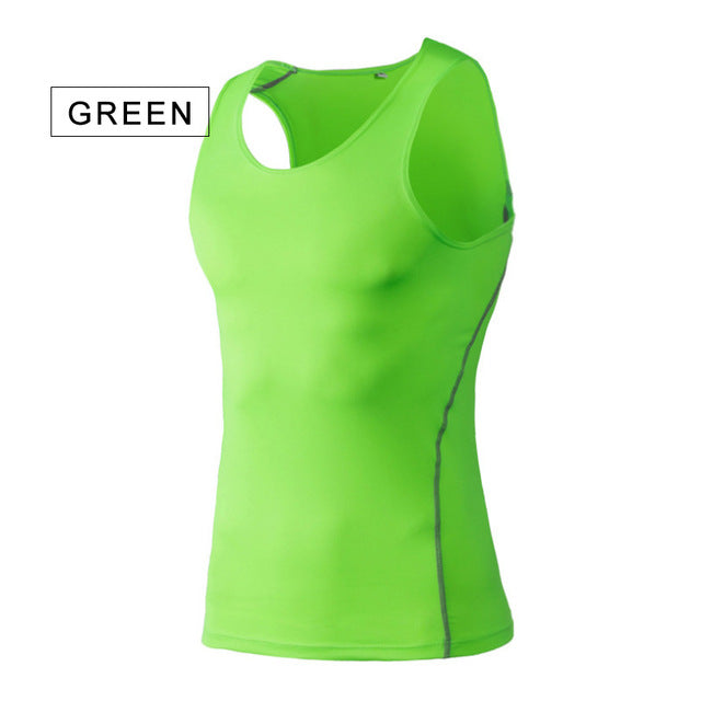 Breathable Men Sport Training Slim Vest Quick Drying Basketball Running Vest Clothes Athletic Workout Vest Gym Tee