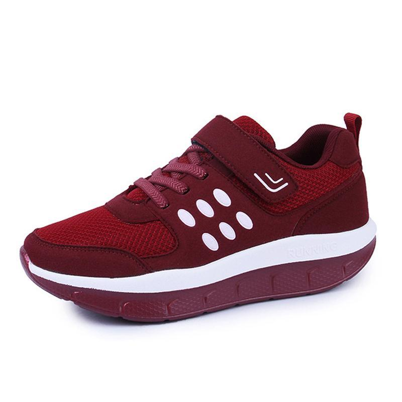 Women RedBreathable Fitness Shoes