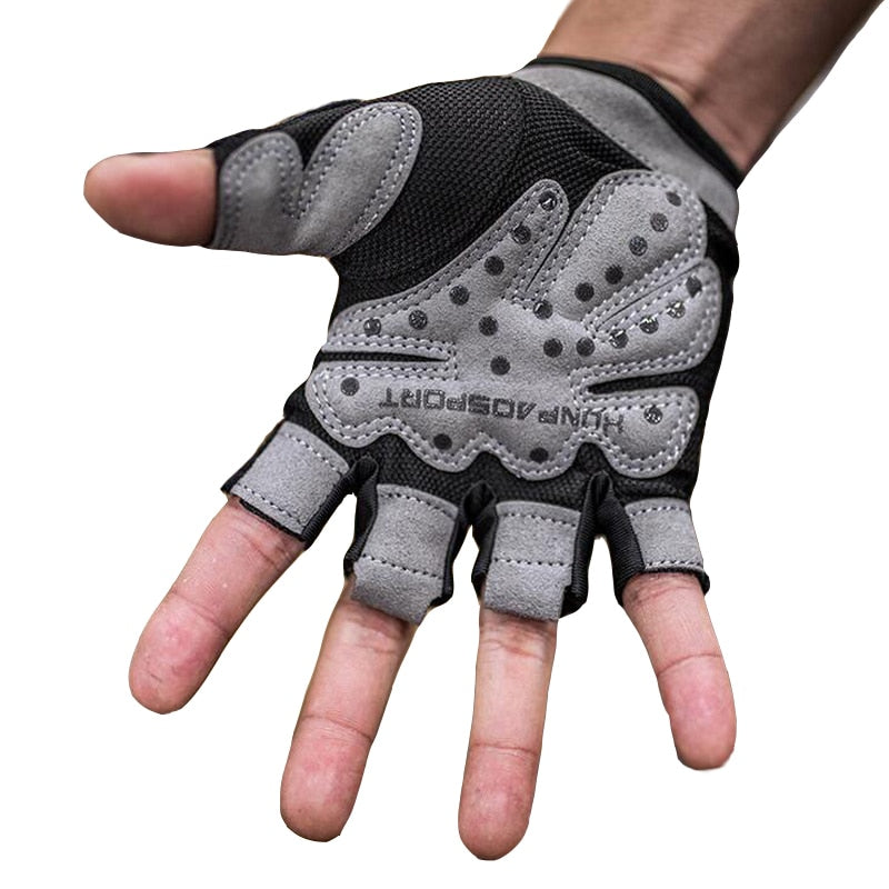 Summer Half Finger Sport Gym Gloves Shockproof Fitness Gloves Weightlifting Dumbbell Gloves For Men/women Non-Slip Durable