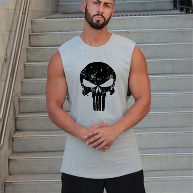 Mens Sleeveless Shirt Vest
