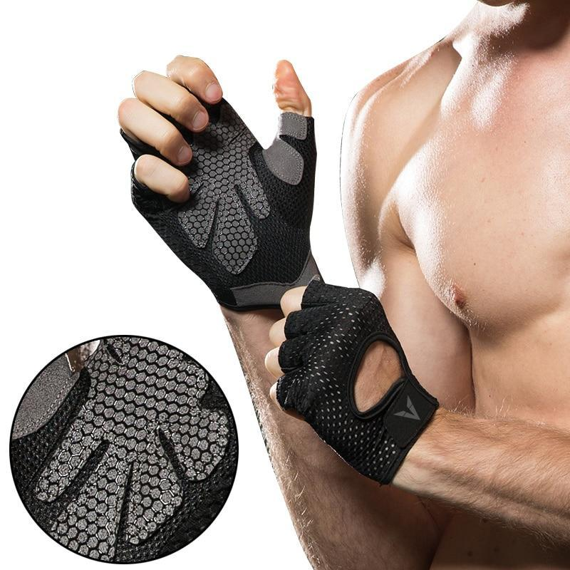 Veidoorn Professional gym gloves exercise gloves men hands protecting breathable sports gloves sports fitness weight-lifting