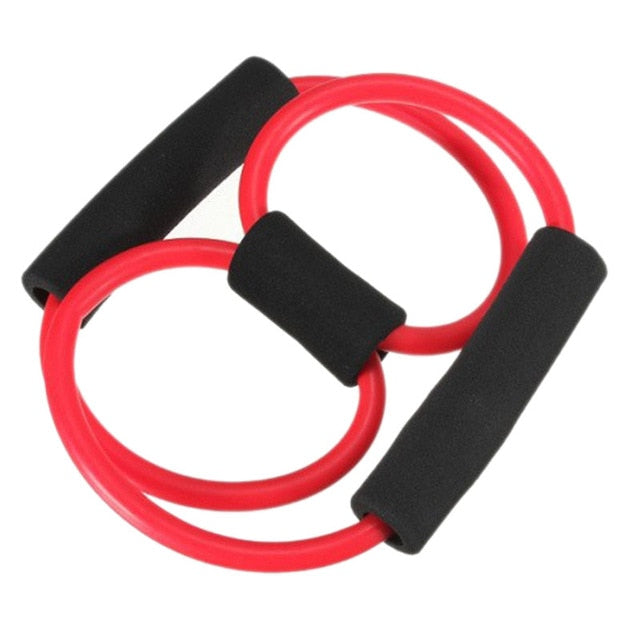 Newly Control Weight Expansion Rubber Tubing Pull on Rope Fitness Elastic Band Yoga Tubo 8 Tipo