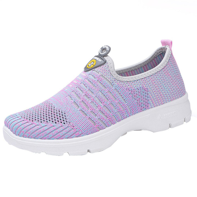 Women Mesh Casual Loafers Breathable Slip-on Shoes Soft Running Shoes Gym Shoes