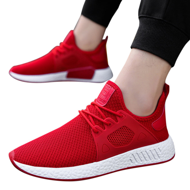 Men Fashion Solid Cross Tied Casual Shoes Gym Shoes Running Shoes