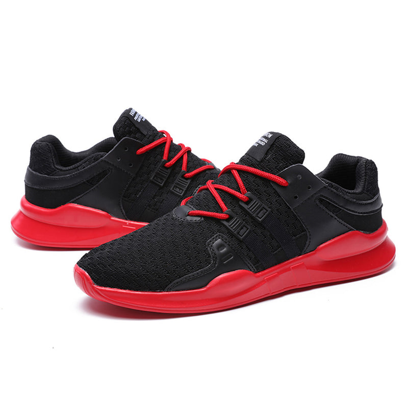 Men's Running Shoes Breathable Gym Shoes Leisure Lace-up Sport Shoes