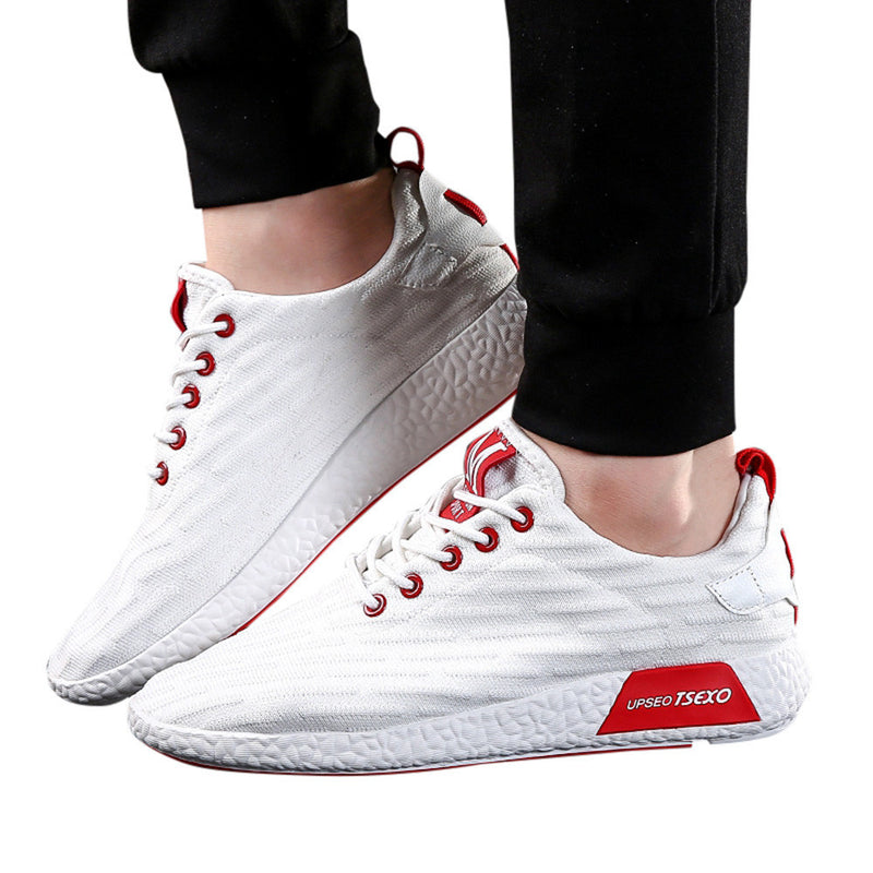 Men Fashion Solid Cross Tied Casual Shoes Running Shoes Gym Shoes