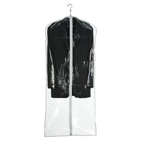 "Garment Bag with Zipper, 54"" - Clear"
