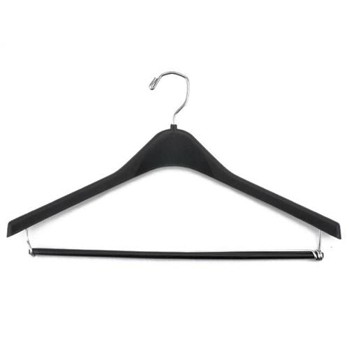 Hangers, Black Plastic Suit w/ Locking Bar