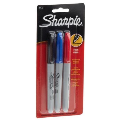 Sharpie Fine Point Markers - 3 Assorted Colors