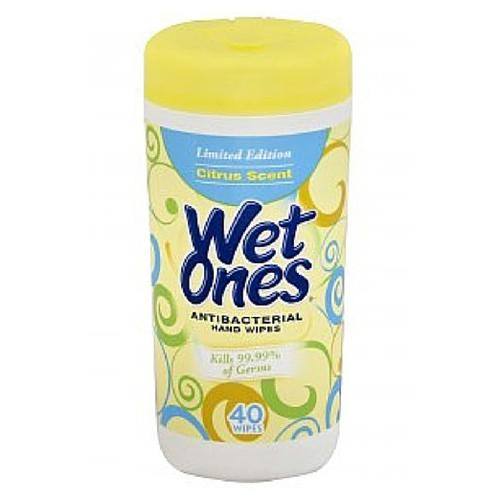 Wet Ones Canister - Yellow Citrus