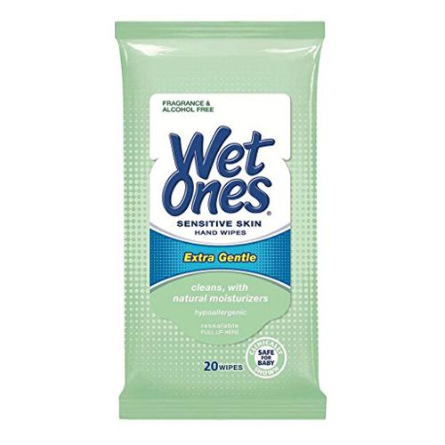 Wet Ones Travel Pack - Green Sensitive