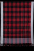 Big Check Kuppadam Cotton and Silk Handloom Dupatta - Red