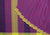 Mixture Plain Cotton Handloom Saree -Purple