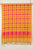 Checkered Cotton Handloom Dupatta - Orange, Yellow, Pink