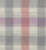 Natural Dyed Multicolor Checks Cotton Handloom Fabric - Peach